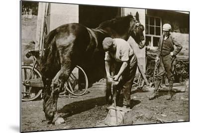 The Village Blacksmith--Mounted Photographic Print