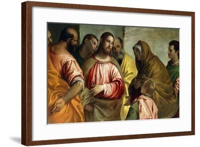 Christ and the Widow of Nain, C.1550-55-Paolo Caliari-Framed Giclee Print