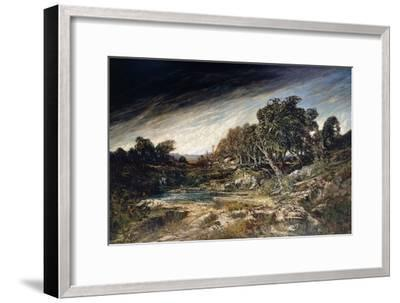 The Gust of Wind, C.1855-Gustave Courbet-Framed Giclee Print
