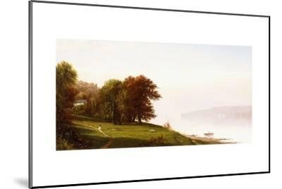 Landscape on the Hudson, C.1865-Alfred Thompson Bricher-Mounted Giclee Print