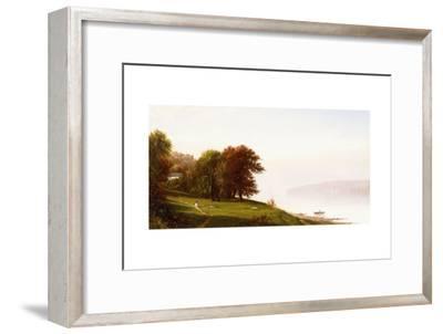 Landscape on the Hudson, C.1865-Alfred Thompson Bricher-Framed Giclee Print
