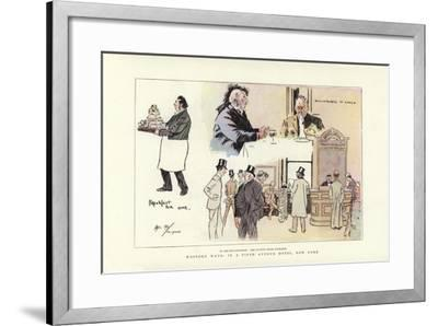 Western Ways, in a Fifth Avenue Hotel, New York-Phil May-Framed Giclee Print