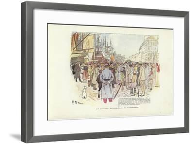 An Artist's Wanderings, at Marseilles-Phil May-Framed Giclee Print