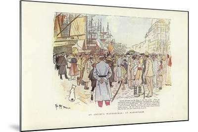 An Artist's Wanderings, at Marseilles-Phil May-Mounted Giclee Print