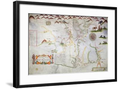 Pascatway River in New England, C.1660-85--Framed Giclee Print