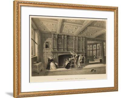 Fire-Place in Drawing Room, Speke, Lancashire-Joseph Nash-Framed Giclee Print