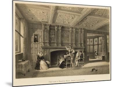 Fire-Place in Drawing Room, Speke, Lancashire-Joseph Nash-Mounted Giclee Print