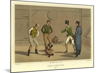 Cock Fighting-Henry Thomas Alken-Mounted Giclee Print