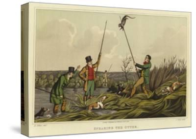 Spearing the Otter-Henry Thomas Alken-Stretched Canvas Print