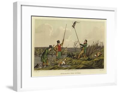 Spearing the Otter-Henry Thomas Alken-Framed Giclee Print