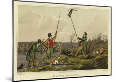 Spearing the Otter-Henry Thomas Alken-Mounted Giclee Print