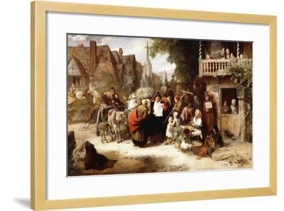 Market Day, the Arrival of the Hippodrome-George Bernard O'neill-Framed Giclee Print