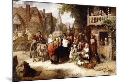 Market Day, the Arrival of the Hippodrome-George Bernard O'neill-Mounted Giclee Print