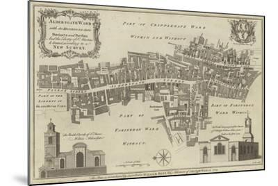 Map of Aldersgate Ward, City of London--Mounted Giclee Print