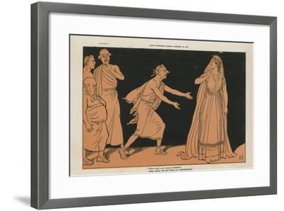 Political Cartoon--Framed Giclee Print