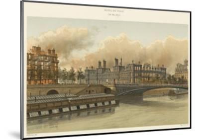 Hotel De Ville, 24 Mai 1871--Mounted Giclee Print