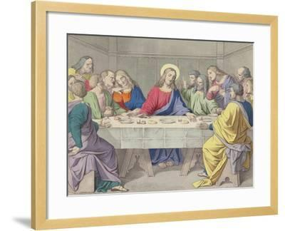 Jesus Institutes the Holy Eucharist--Framed Giclee Print