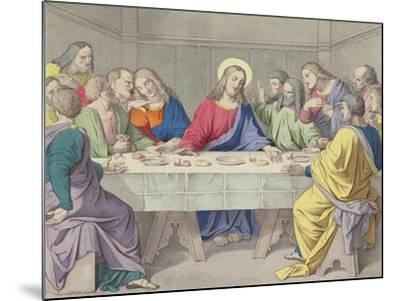Jesus Institutes the Holy Eucharist--Mounted Giclee Print