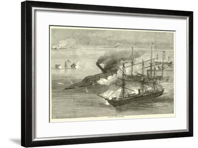 Capture of the Tennessee, August 1864--Framed Giclee Print
