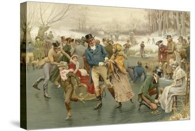 A Merry Christmas-Frank Dadd-Stretched Canvas Print