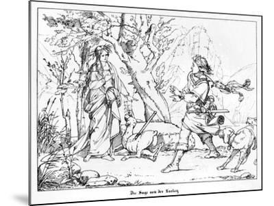 The Saga of Lorelei, Engraved by J. Dielmann-Alfred Rethel-Mounted Giclee Print