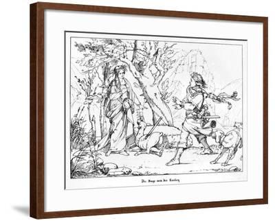 The Saga of Lorelei, Engraved by J. Dielmann-Alfred Rethel-Framed Giclee Print