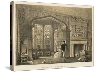 Bay Window in Drawing Room, Lyme Hall, Cheshire-Joseph Nash-Stretched Canvas Print
