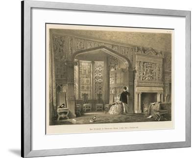 Bay Window in Drawing Room, Lyme Hall, Cheshire-Joseph Nash-Framed Giclee Print