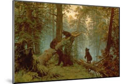 Morning in a Pine Forest, 1889-Ivan Ivanovitch Shishkin-Mounted Giclee Print