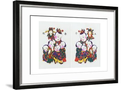 Five Children Vying for the Prize, C.1980S--Framed Giclee Print