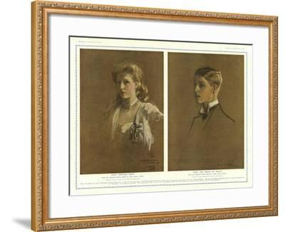 Princess Mary and the Prince of Wales-Sir John Lavery-Framed Giclee Print