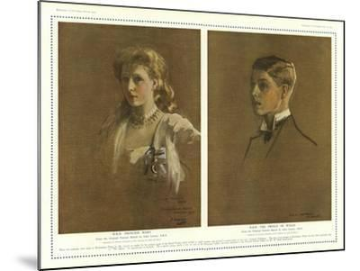 Princess Mary and the Prince of Wales-Sir John Lavery-Mounted Giclee Print