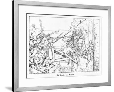 The Templars of Lahneck, Engraved by J. Dielmann-Alfred Rethel-Framed Giclee Print