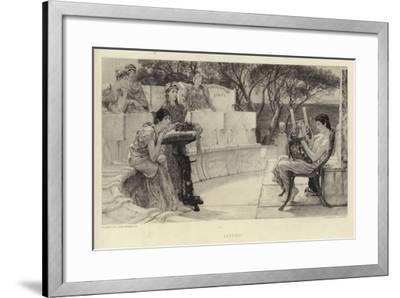 Sappho-Sir Lawrence Alma-Tadema-Framed Giclee Print