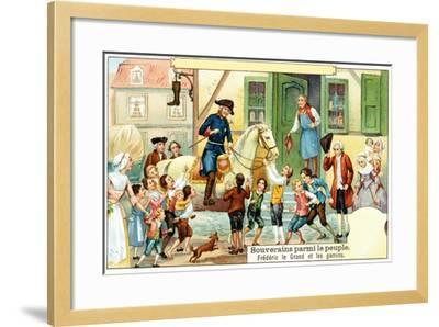 Frederick the Great of Prussia with the Urchins--Framed Giclee Print