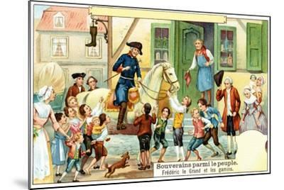 Frederick the Great of Prussia with the Urchins--Mounted Giclee Print