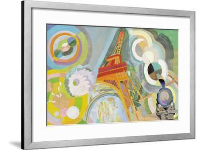 Air, Iron and Water, Study, 1937-Robert Delaunay-Framed Giclee Print