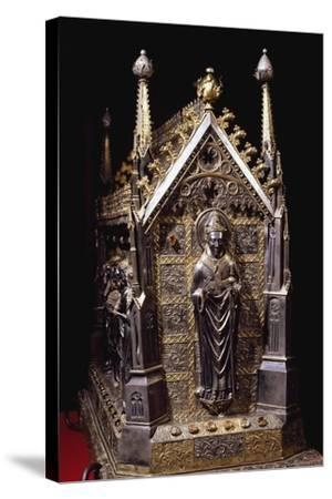 Detail from Wooden Case with Reliquary of St Grato-Giovanni De Malines-Stretched Canvas Print