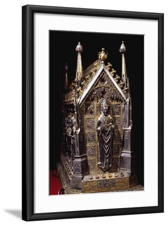 Detail from Wooden Case with Reliquary of St Grato-Giovanni De Malines-Framed Giclee Print