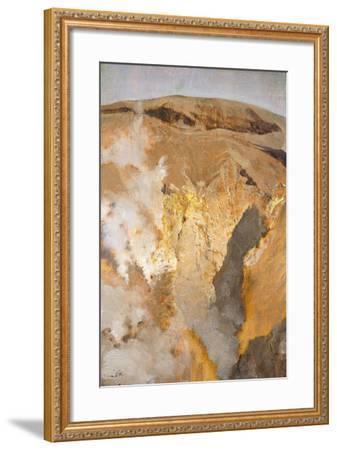 Fumarole of Mount Vesuvius, Circa 1871-Giuseppe De Nittis-Framed Giclee Print