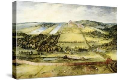 Chateau of Mariemont-Jan Brueghel the Elder-Stretched Canvas Print