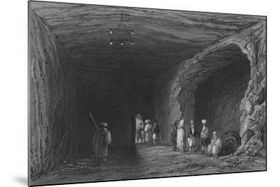 Cave of the School of the Prophets, in Mount Carmel-William Henry Bartlett-Mounted Giclee Print