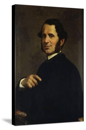 Portrait of Painter Francesco Gandolfi-Santo Bertelli-Stretched Canvas Print