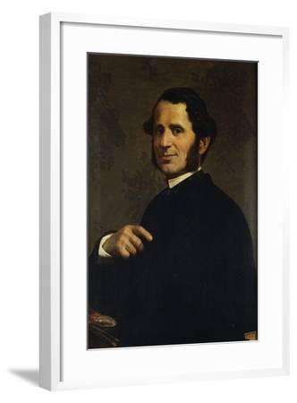 Portrait of Painter Francesco Gandolfi-Santo Bertelli-Framed Giclee Print