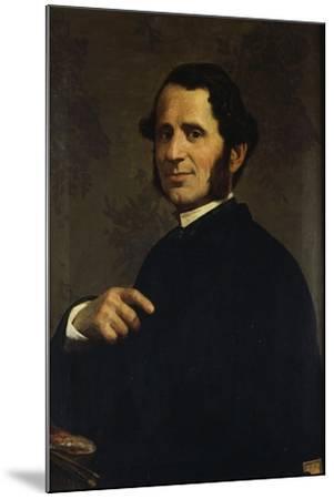 Portrait of Painter Francesco Gandolfi-Santo Bertelli-Mounted Giclee Print