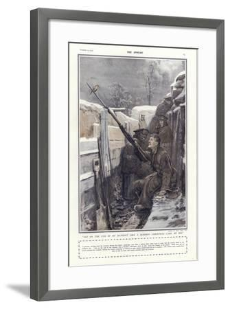"""""""Sat on the End of My Bayonet Like a Bloomin' Christmas Card, He Did""""-Philip Dadd-Framed Giclee Print"""
