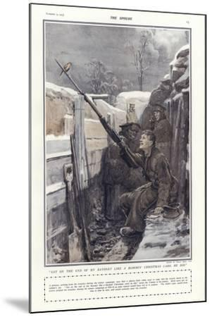 """""""Sat on the End of My Bayonet Like a Bloomin' Christmas Card, He Did""""-Philip Dadd-Mounted Giclee Print"""