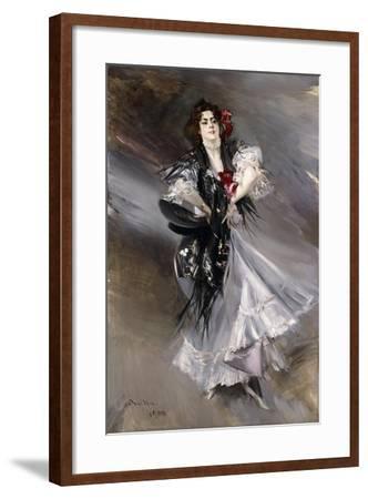 Portrit of Anita De La Feria, the Spanish Dancer, 1900-Giovanni Boldini-Framed Giclee Print