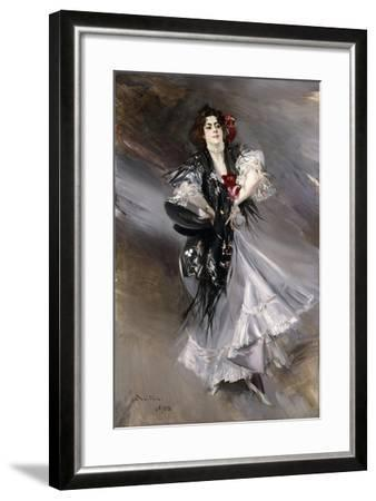 Portrit of Anita De La Feria, the Spanish Dancer, 1900-Giovanni Boldini-Framed Giclee Print