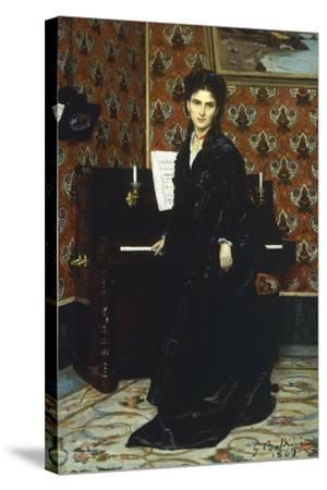 Portrait of Mary Donegani, 1869-Giovanni Boldini-Stretched Canvas Print